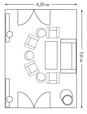 The George Hotel event location The Library room layout floor plan